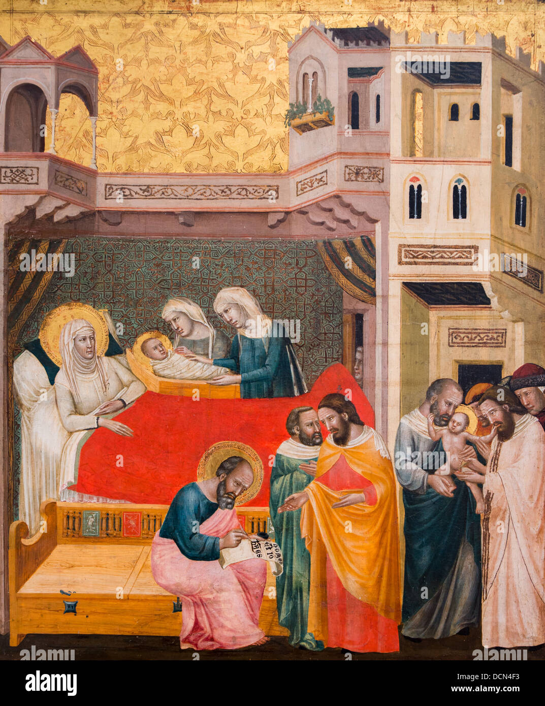 14th century  -  Scenes from the Life of Saint John the Baptist, around 1330 Master of the Life of Saint John the - Stock Image