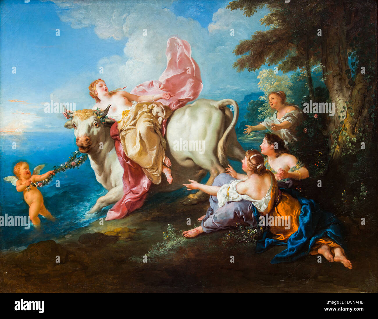 18th century  -  The Abduction of Europa, 1716 - Jean-François de Troy Philippe Sauvan-Magnet / Active Museum - Stock Image