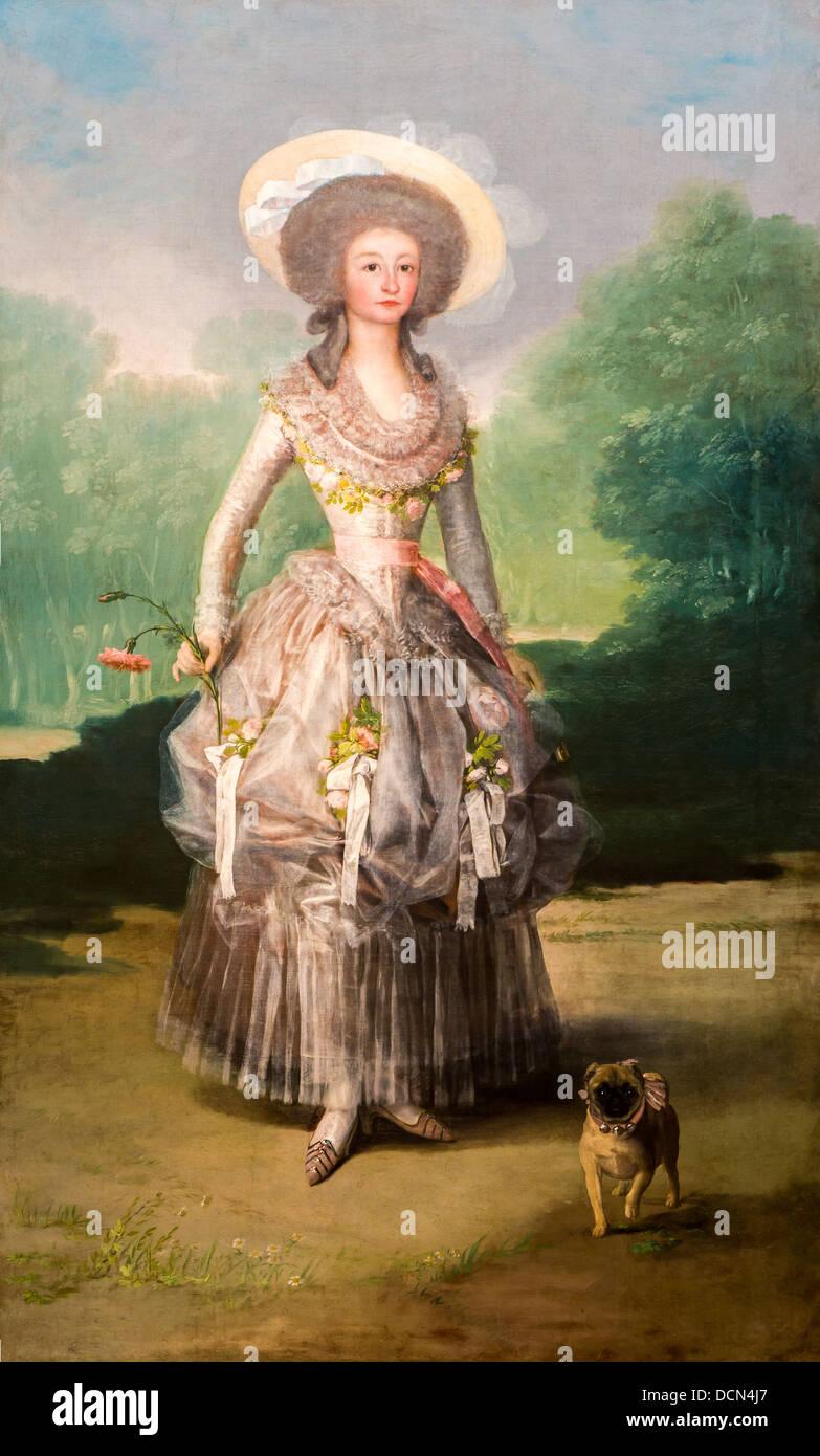18th century  -  The Marquesa de Pontejos, 1786 - Francisco Goya Philippe Sauvan-Magnet / Active Museum Stock Photo