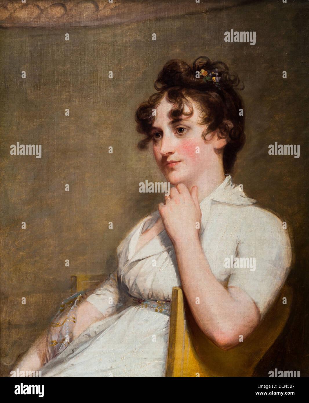 19th century  -  Eleanor Parke Custis Lewis - Gilbert Stuart (1804) Philippe Sauvan-Magnet / Active Museum - Stock Image