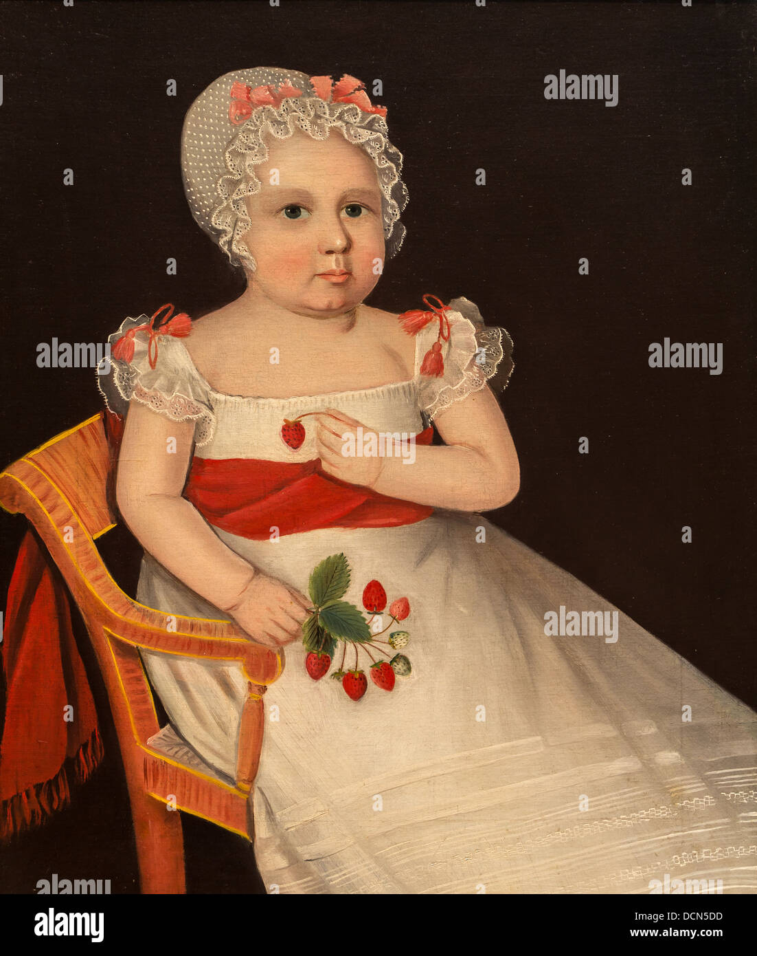 19th century  -  The strawberry girl - Ammi Phillips (1830) Philippe Sauvan-Magnet / Active Museum - Stock Image