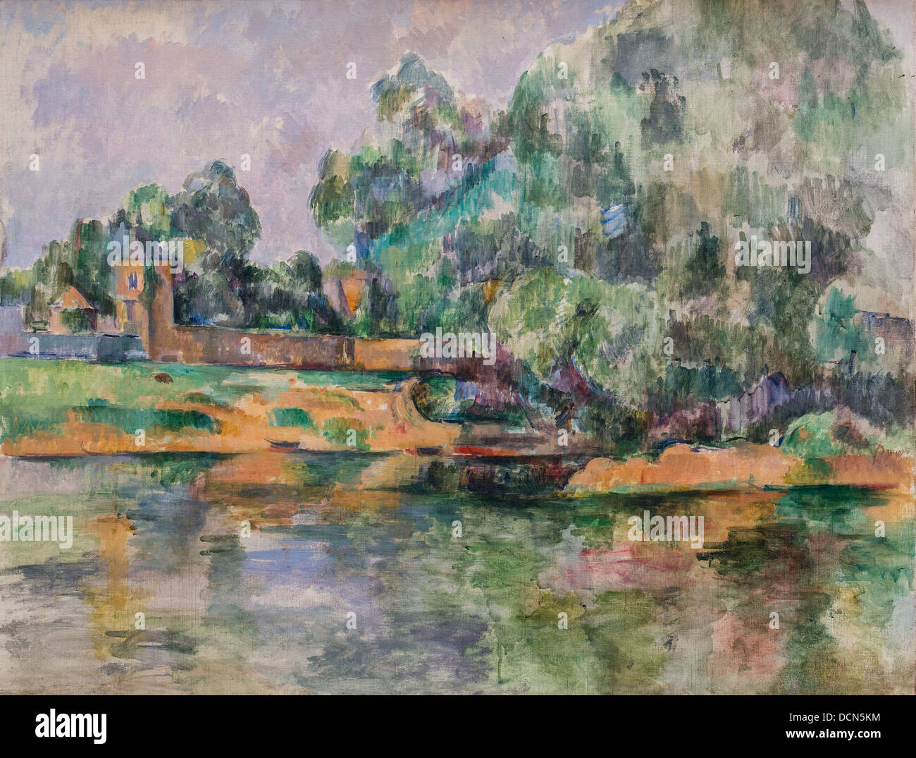 19th century  -  Riverbank - Paul Cézanne (1895) Philippe Sauvan-Magnet / Active Museum - Stock Image