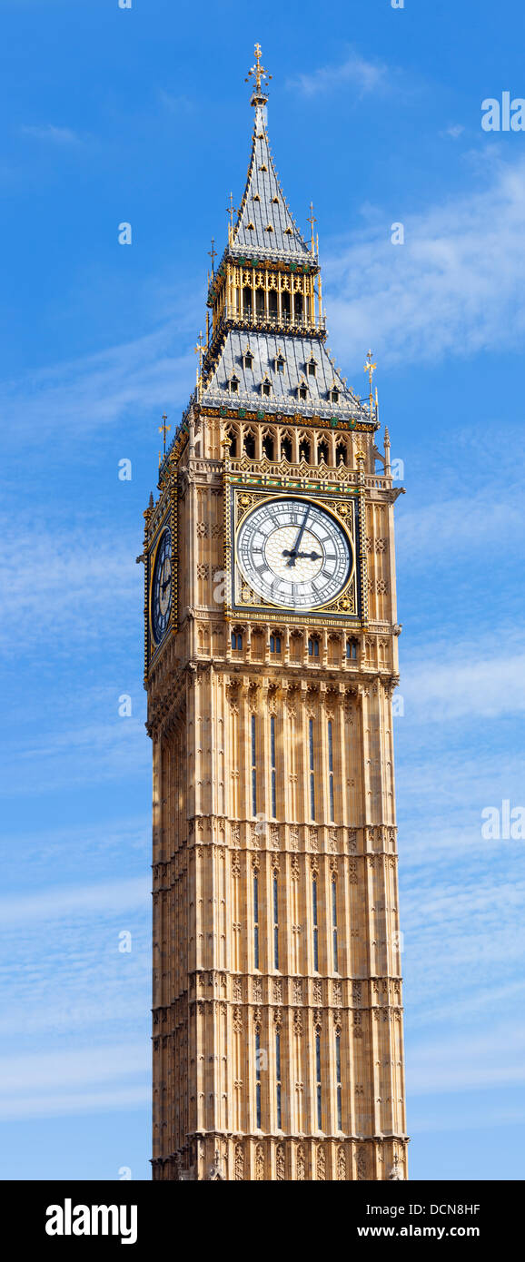 Big Ben, or St Stephen's Tower, in Westminster, London, UK. - Stock Image