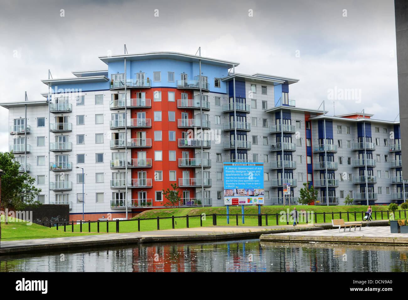 Eco friendly designer apartments in Walsall, West Midlands UK - Stock Image