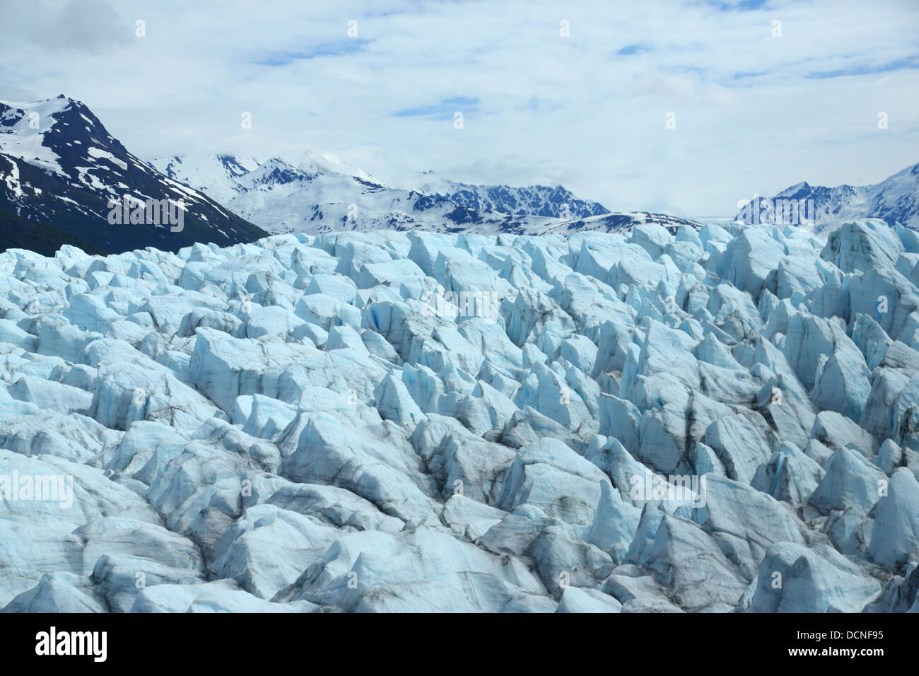 Glacier at Inner Lake George near Anchorage, Alaska - Stock Image