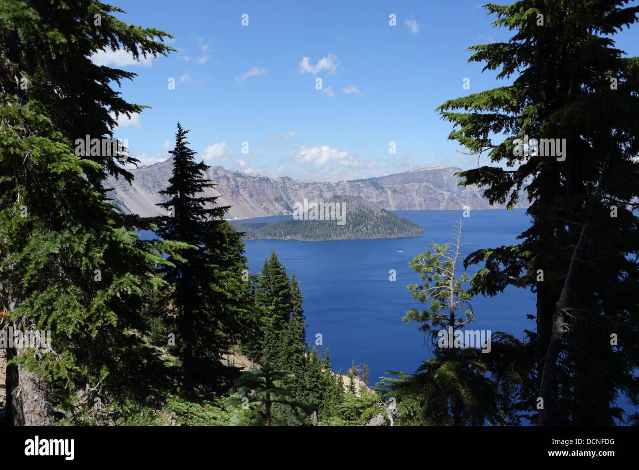 Crater Lake, Oregon, USA - Stock Image