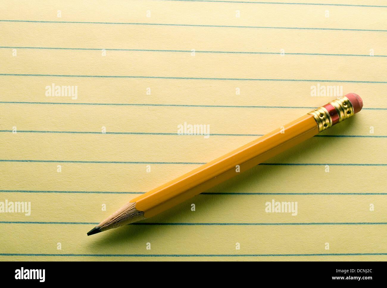 pencil  paper - Stock Image