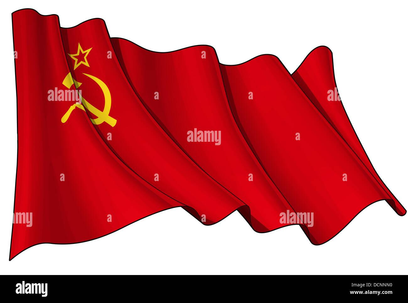 Soviet Union flag - Stock Image