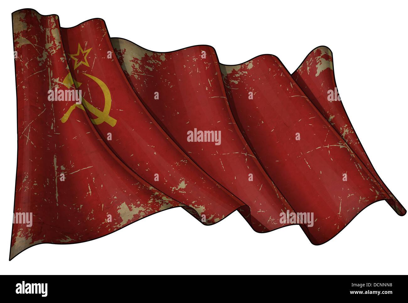 Soviet Union Historic Flag - Stock Image