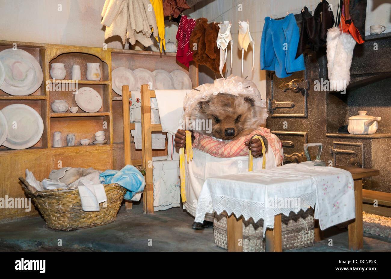 Great Britain, England, Cumbria, Lake District, Bowness-on-Windermere, World of Beatrix Potter, Mrs. Tiggy-Winkle - Stock Image