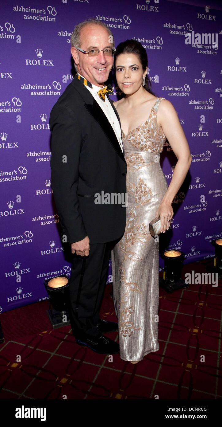 Chris Salyer and Chele Chiavacci 2011 Alzheimer's Association Rita Hayworth Gala at the Waldorf Astoria Hotel New - Stock Image