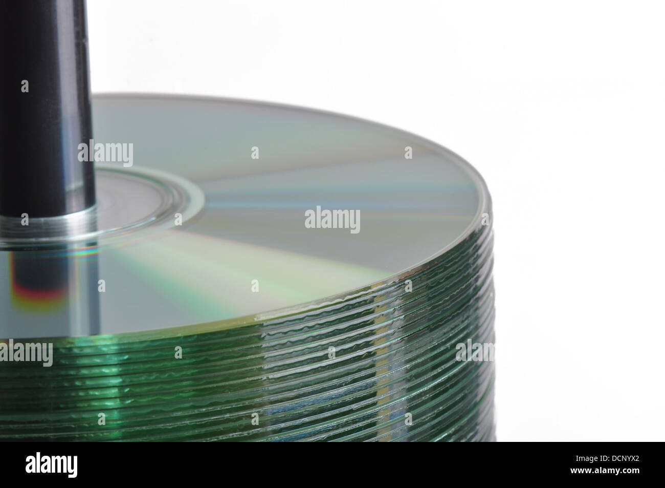 CD Spindle Stack - Stock Image