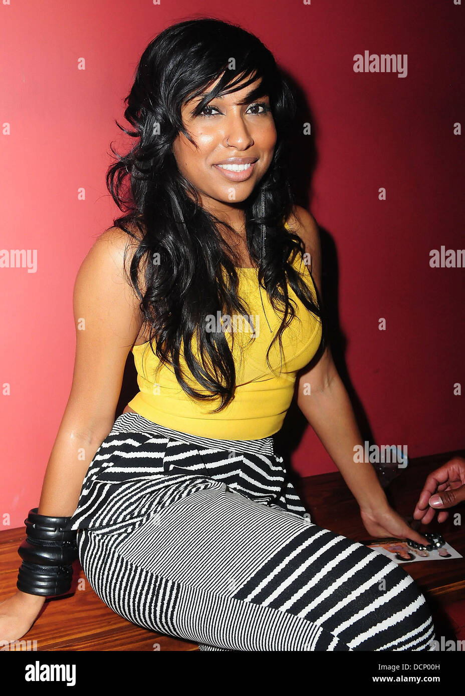 Melanie Fiona at the Gulfstream Casino during the inaugural 'Walk A Mile In Her Shoes Cocktail Party' Hallandale - Stock Image