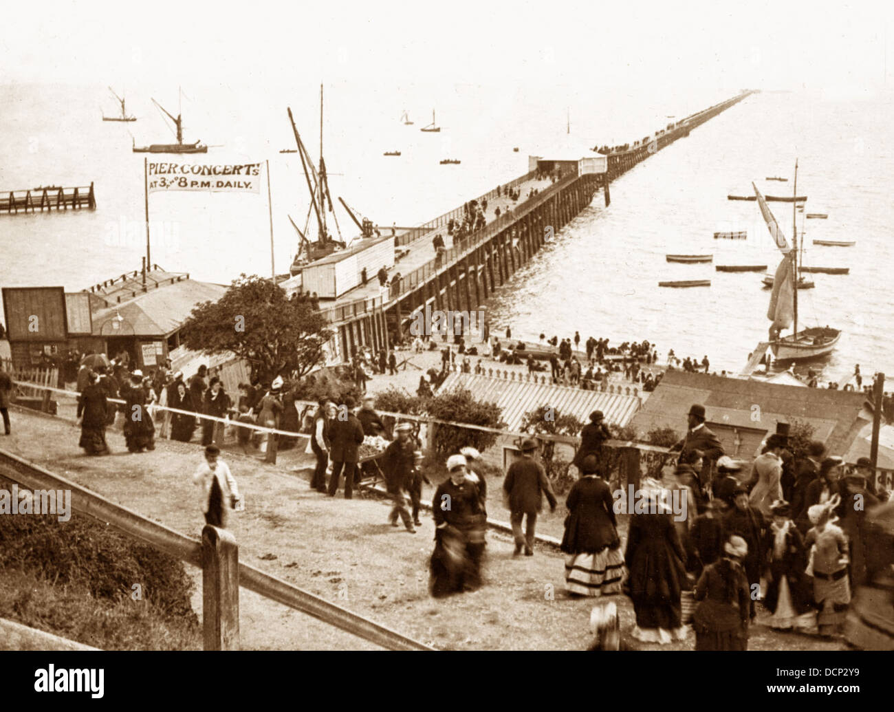 Southend-on-Sea Pier Victorian period - Stock Image
