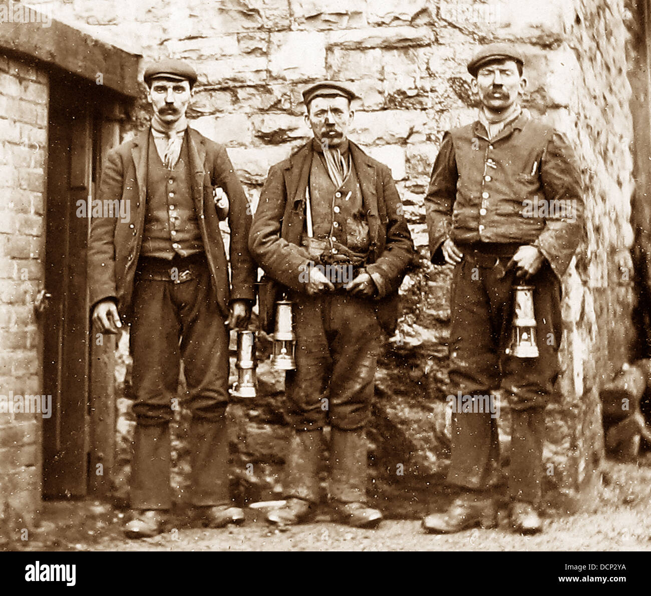 Miners / Hauliers early 1900s - Stock Image