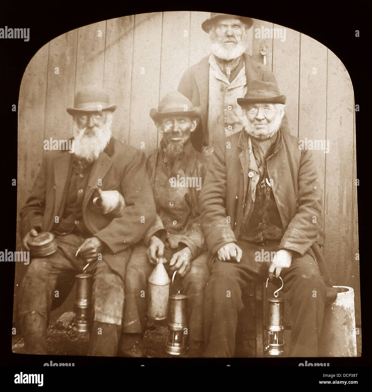 Aberdare Valley Miners early 1900s - Stock Image