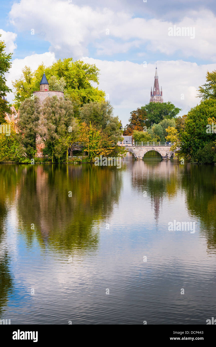 Minnewater Bruges - Stock Image