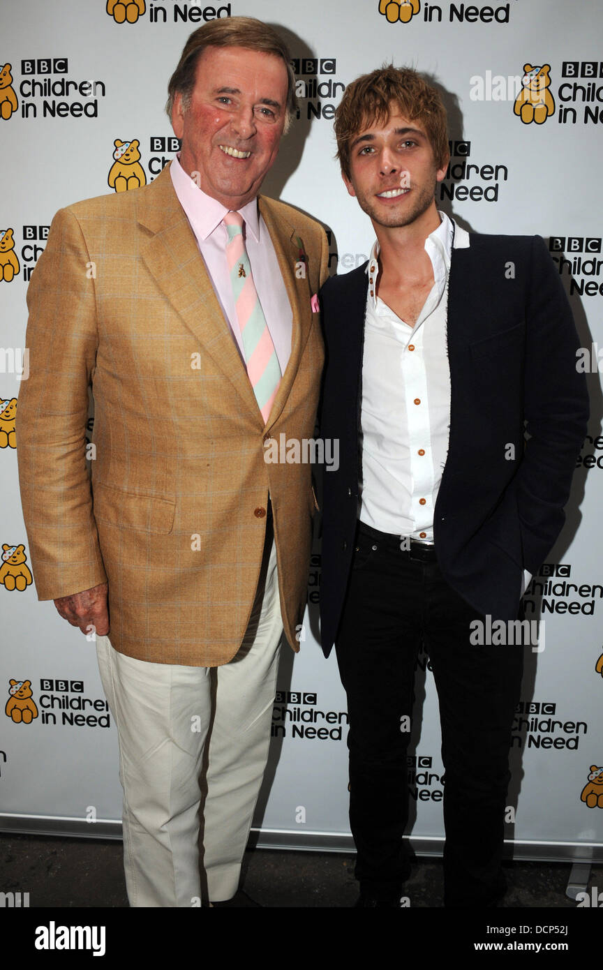 Sir Terry Wogan and Peter Grant  The Children in Need concert at the Savoy Theatre. London, England - 30.10.11 - Stock Image