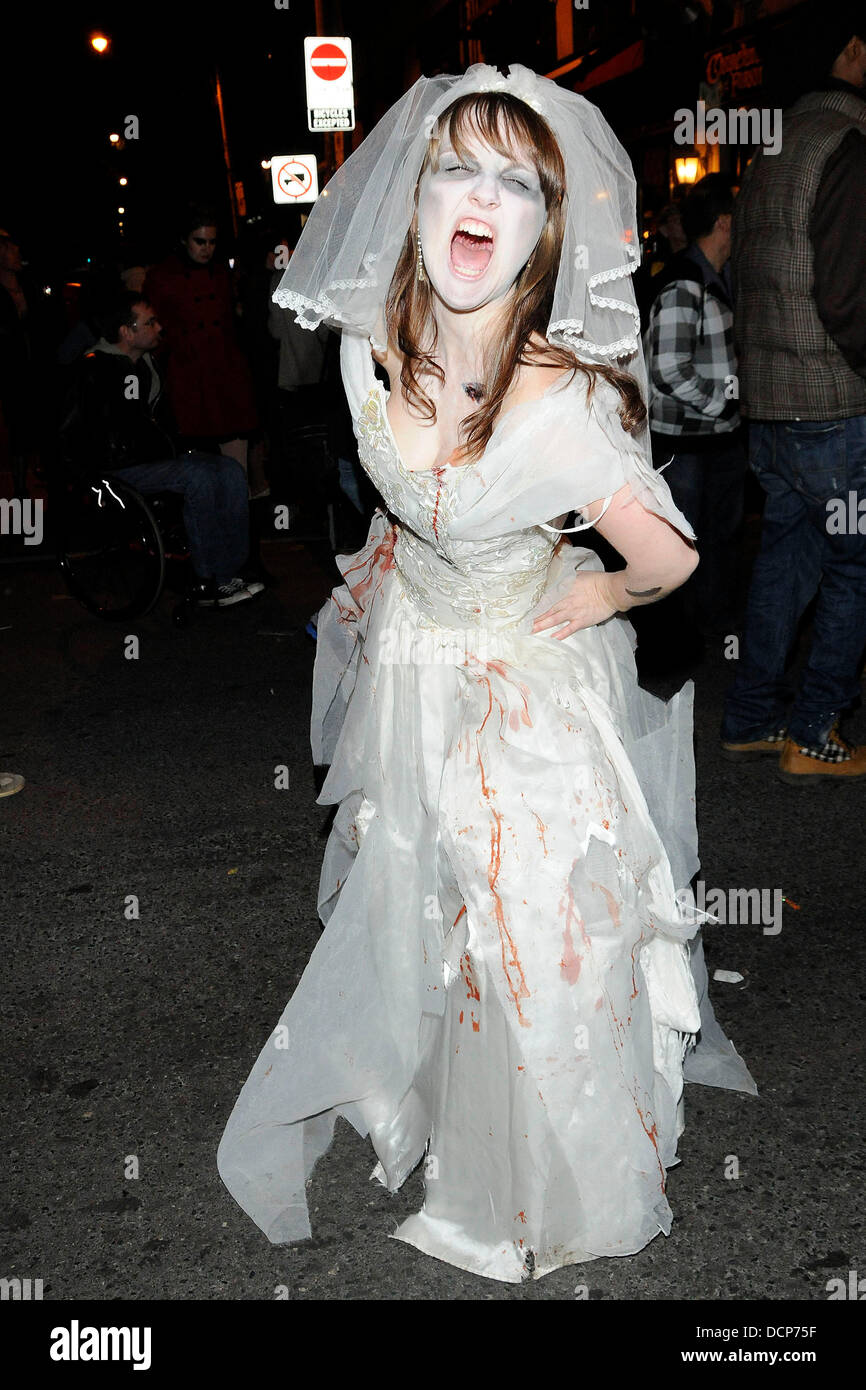 Femmes Zombie Corpse Bride Mort Effrayant Halloween Fancy Dress Costume Outfit