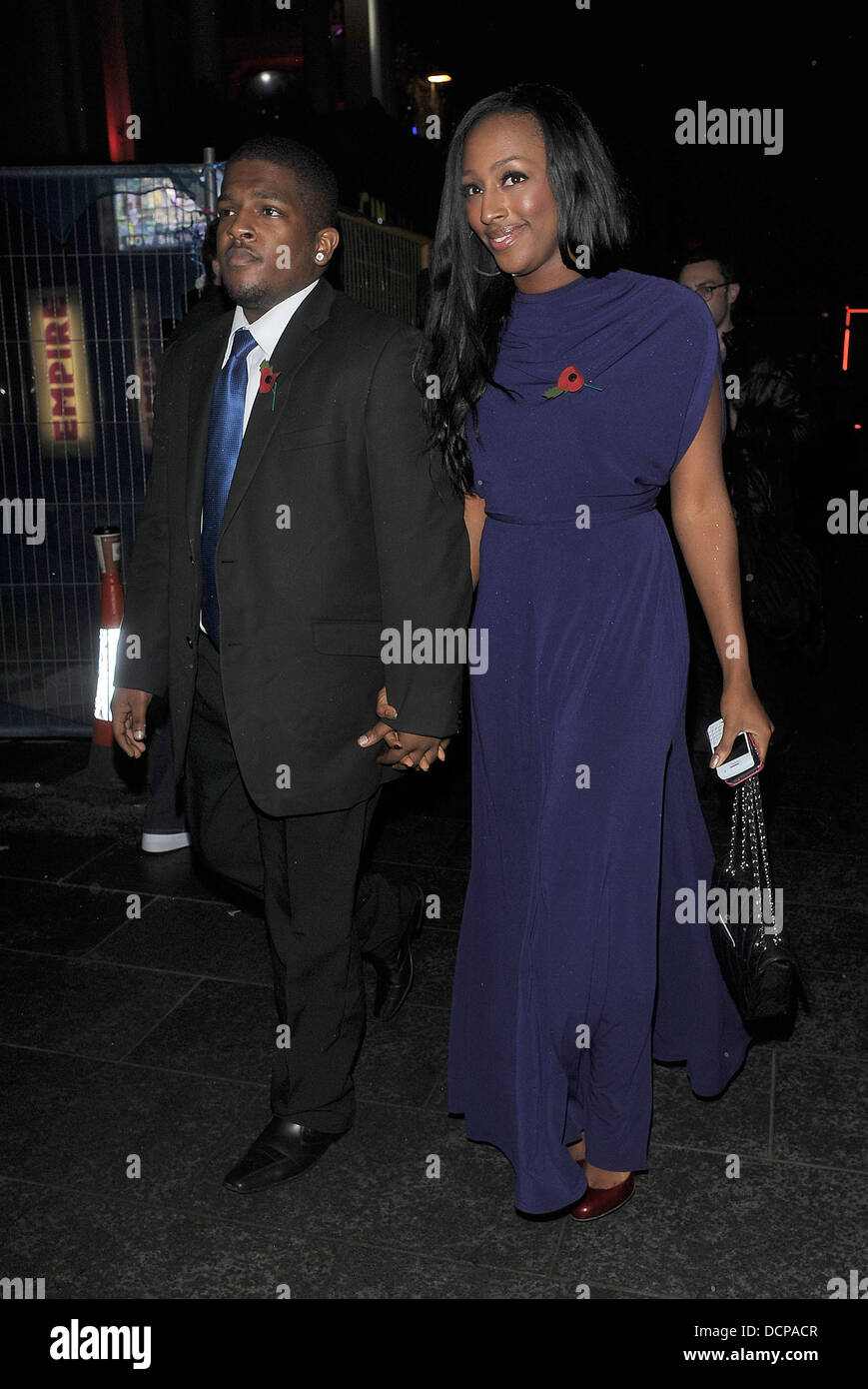 Alexandra Burke Takes Her Younger Brother Aaron To TGI Fridays Restaurant Celebrate His Birthday London England