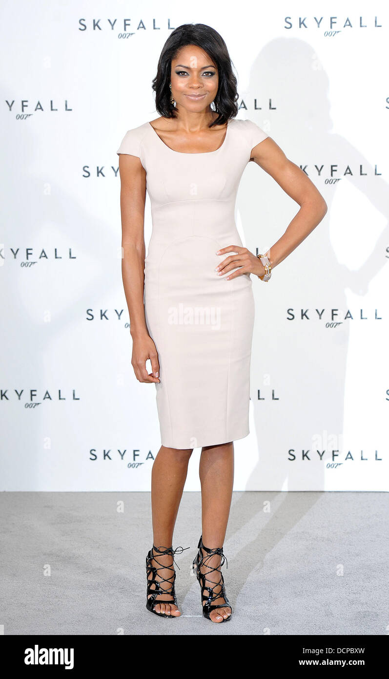 Naomie Harris 'Skyfall', the 23rd James Bond movie, photocall held at Massimo's Restaurant. London, - Stock Image
