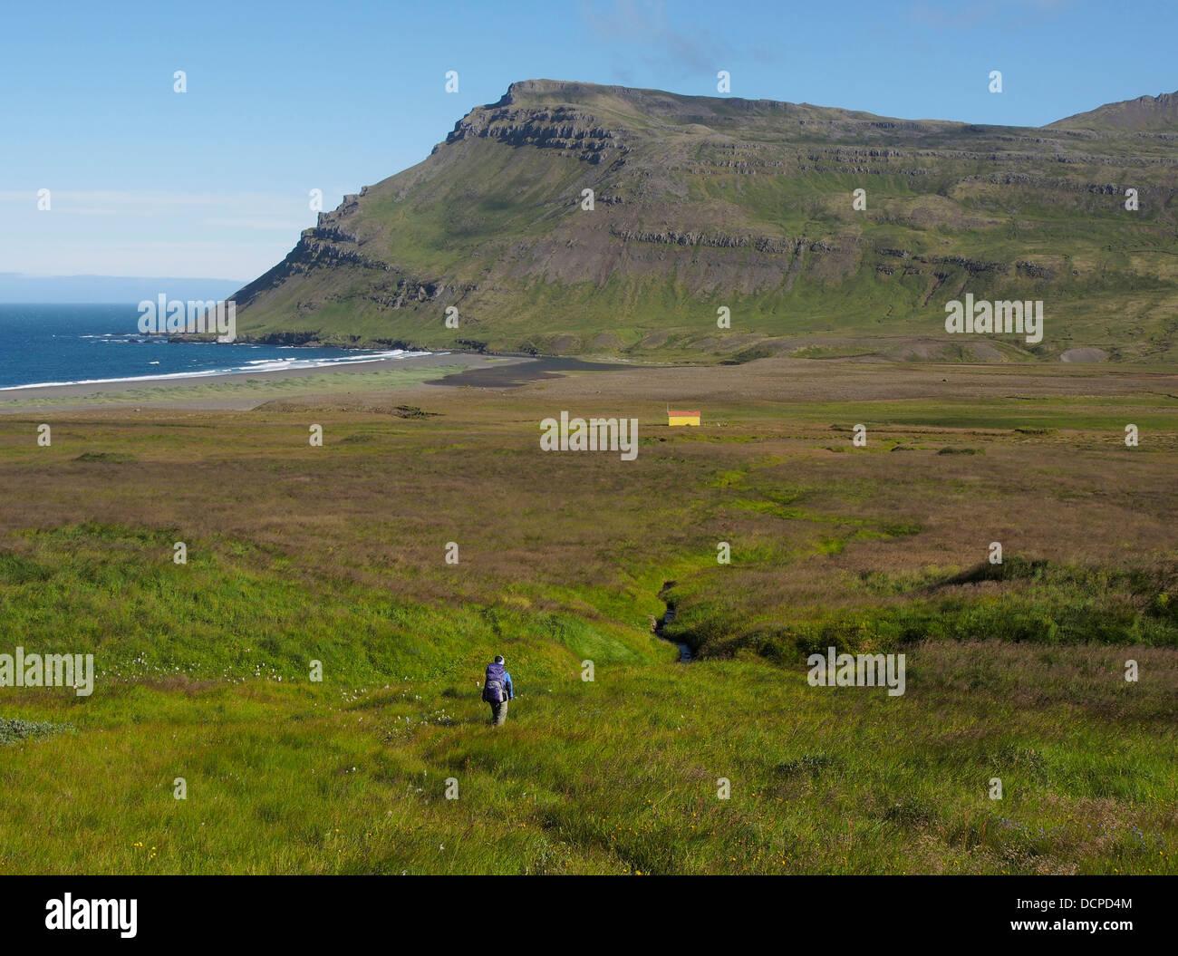 Sandvík, east fjords, Iceland - Stock Image