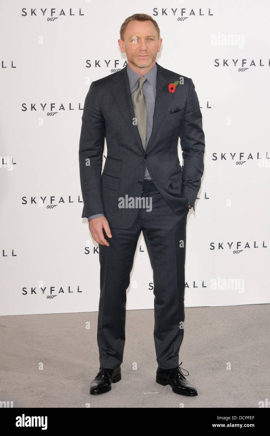 Daniel Craig Skyfall The 23rd James Bond Movie Photocall