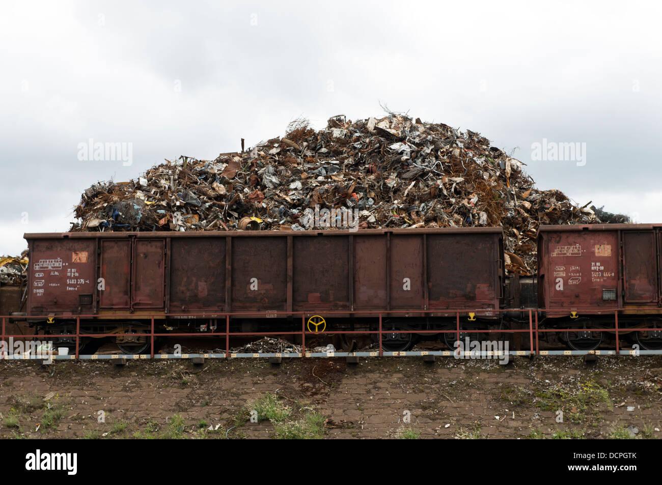 Scrap metal recycling yard Duisburg Germany Stock Photo