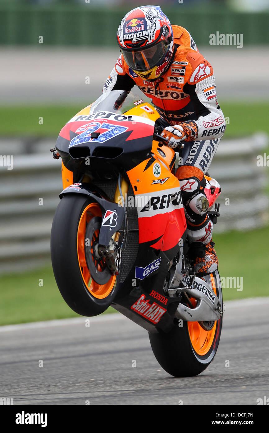 World Champion 2011 in the Moto2 class Stefan Bradl (GER) MotoGP Valencia Valencia, Spain - 06.11.11 - Stock Image