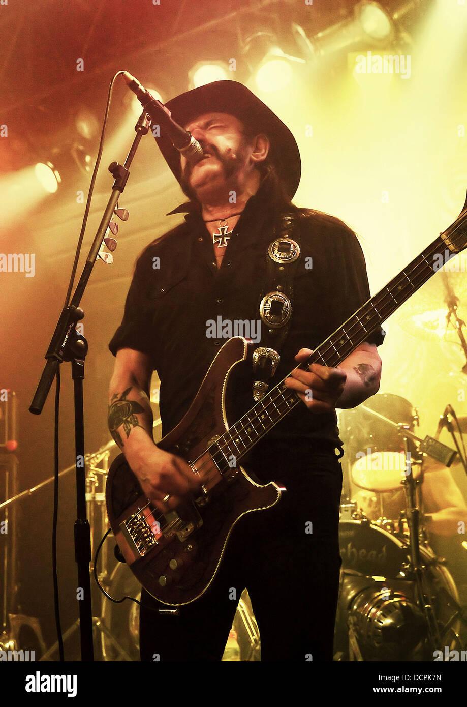 Lemmy Kilmister of Motorhead performing on their 'The World
