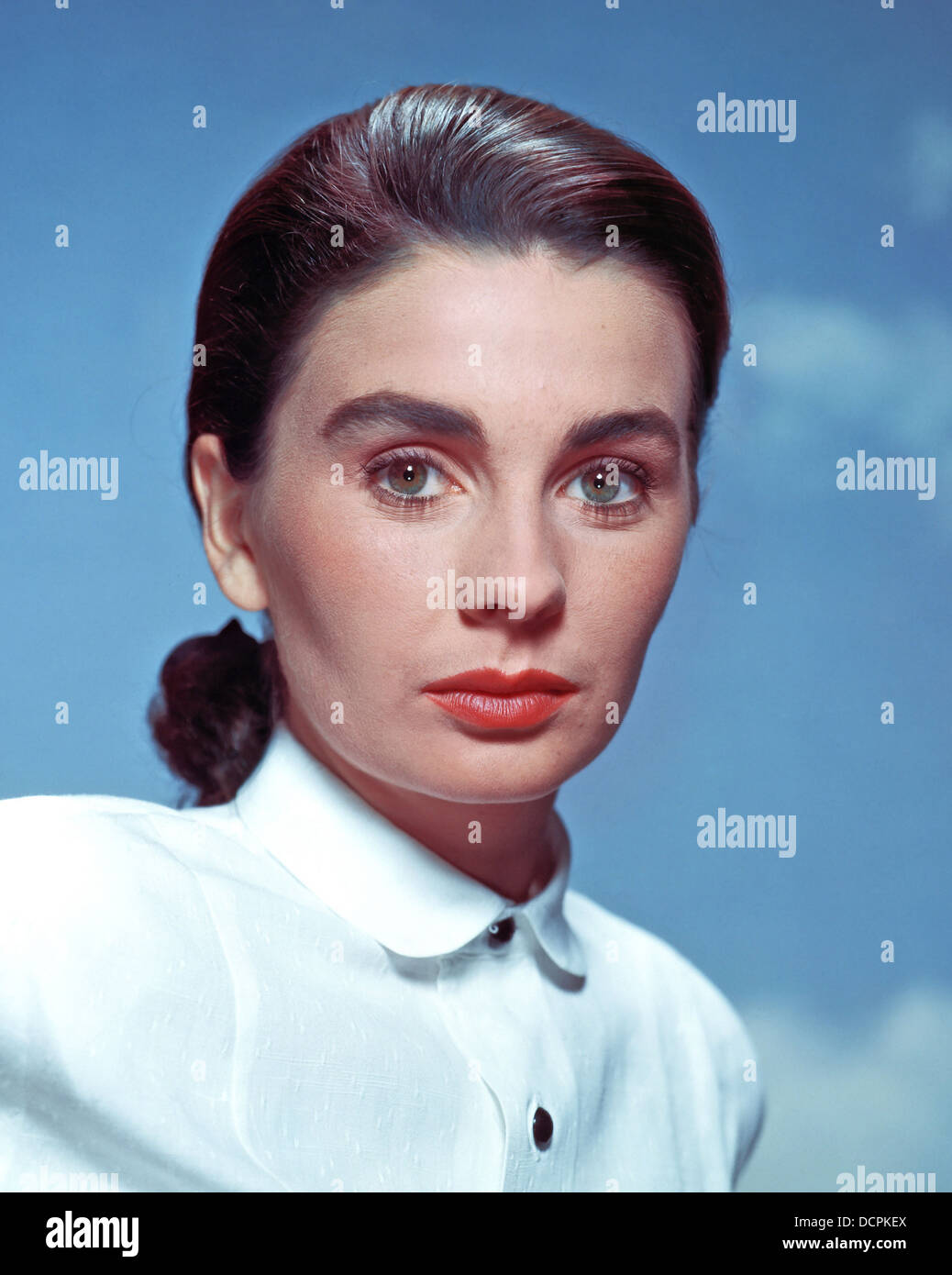 JEAN SIMMONS (1929-2010) Ango-American film actress about 1955 - Stock Image
