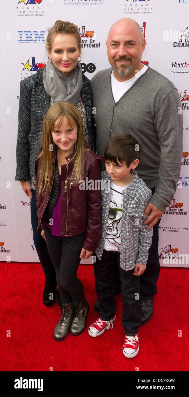 Trina And Adam Venit With Family Yahoo Sports Presents A Day Of
