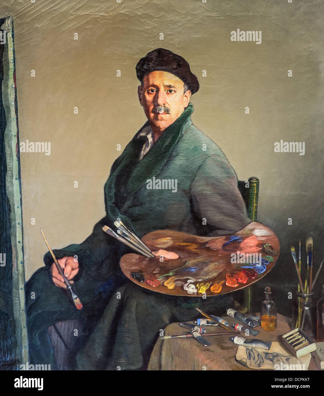 20th century  -  Self-portrait, 1931 - Ignacio Zuloaga Philippe Sauvan-Magnet / Active Museum - Stock Image