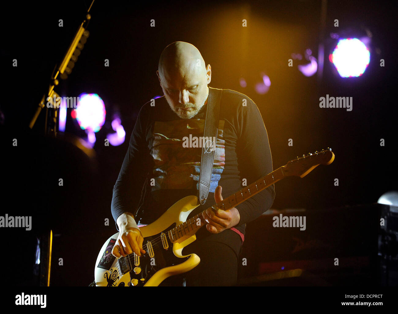 Billy Corgan of American rock band The Smashing Pumpkins performing 'The Other Side of the Kaleidyscope' - Stock Image