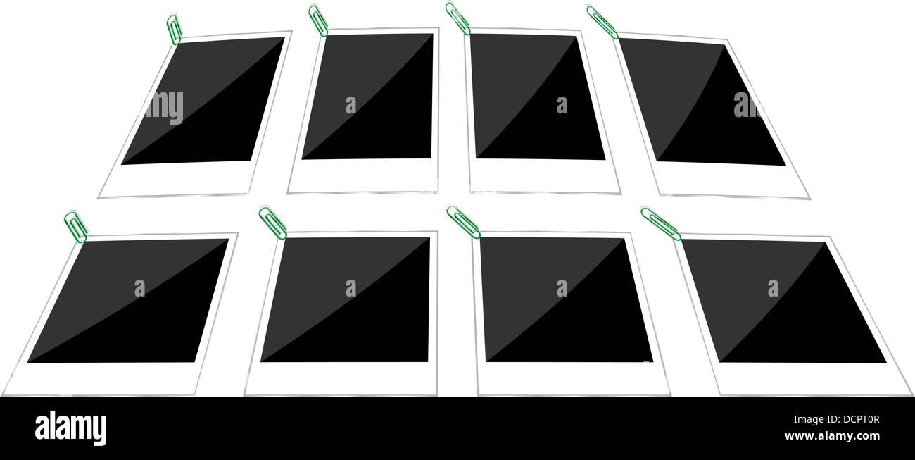 retro paper photo frames templates set stock photo 59508759 alamy