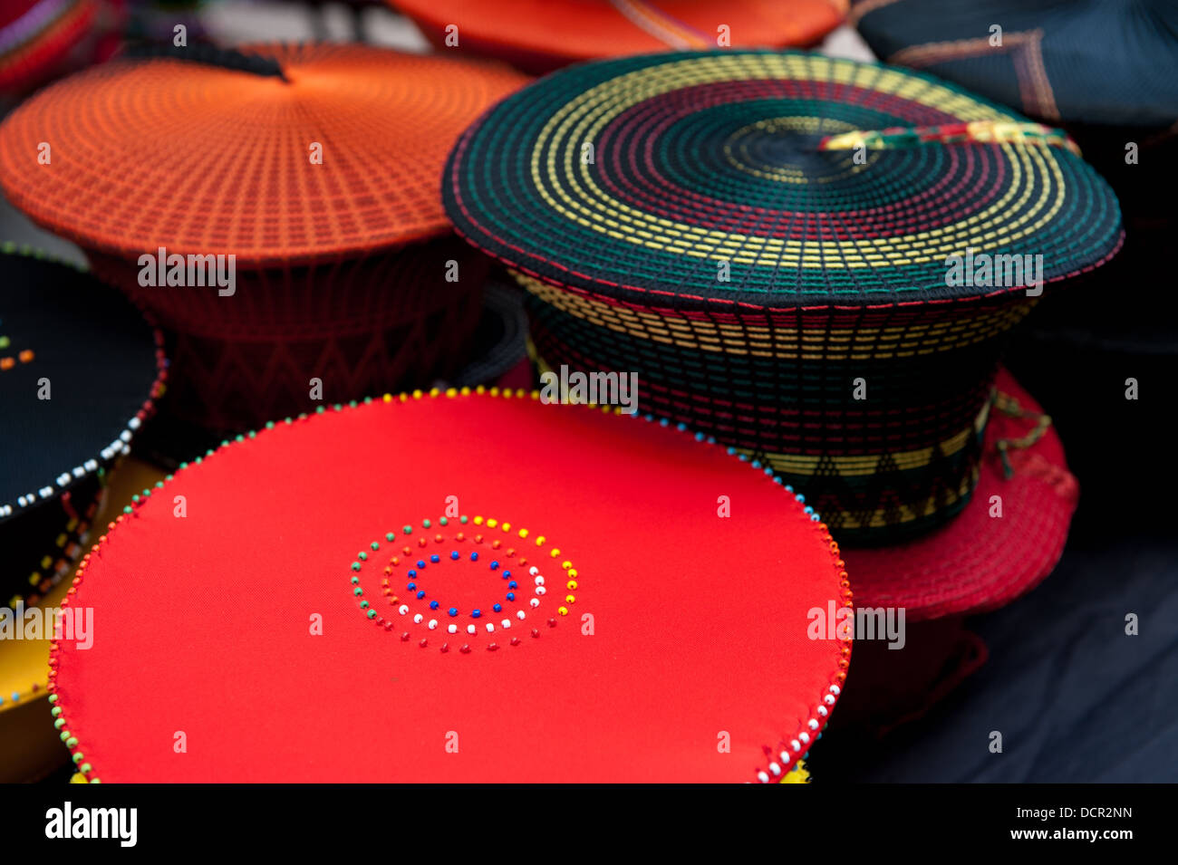 Zulu hats for sale at the market 6d0f27a2b50e