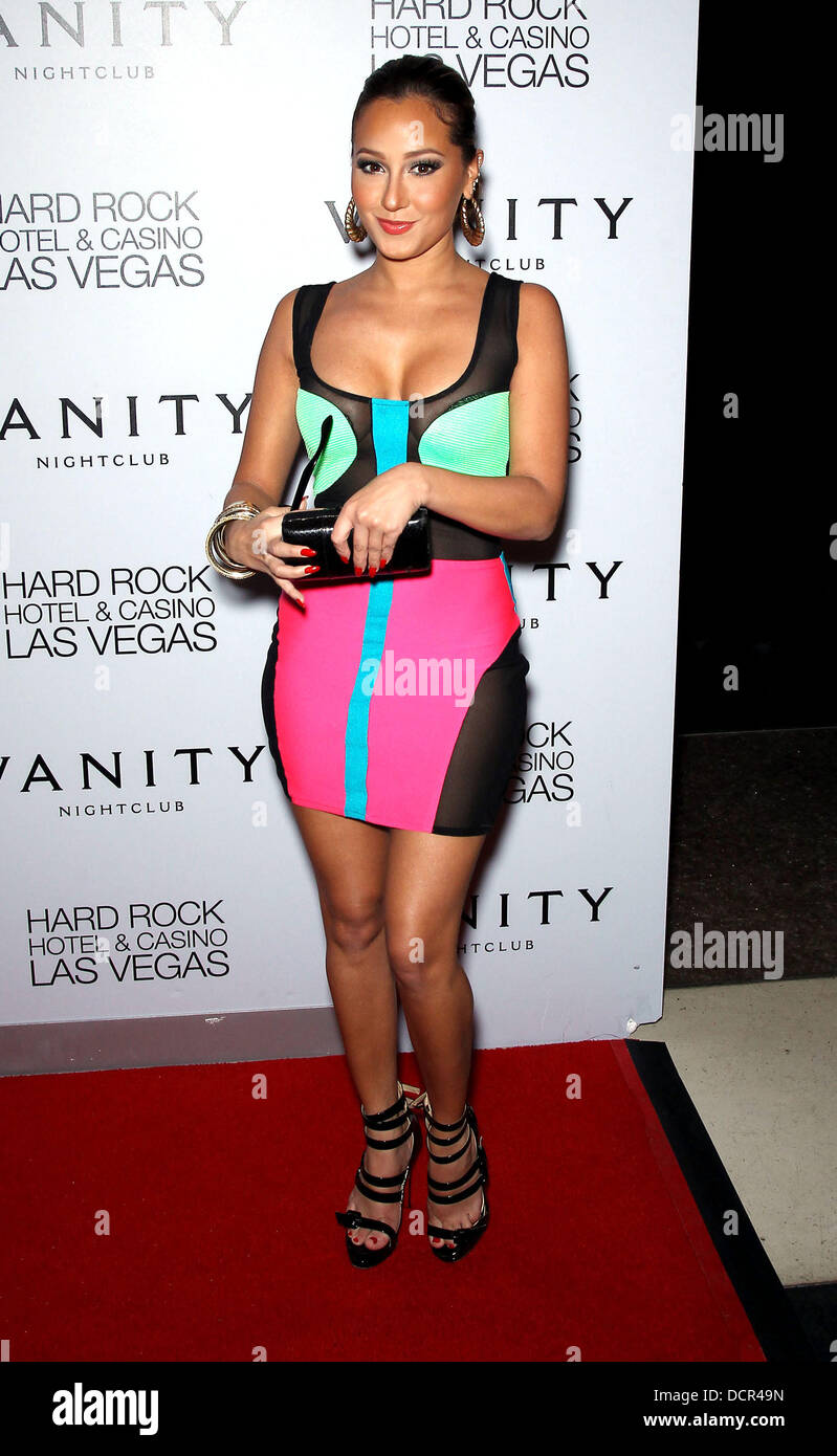 Adrienne Bailon Singer And Actress Hosts Vanity Nightclub  At Hard Rock Hotel Casino Las Vegas Nevada 11