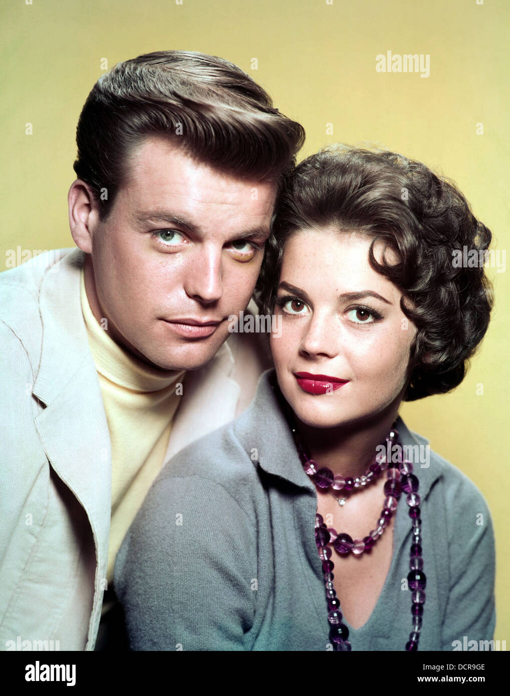 NATALIE WOOD US film actress with first husband actor Robert Wagner about 1958 - Stock Image