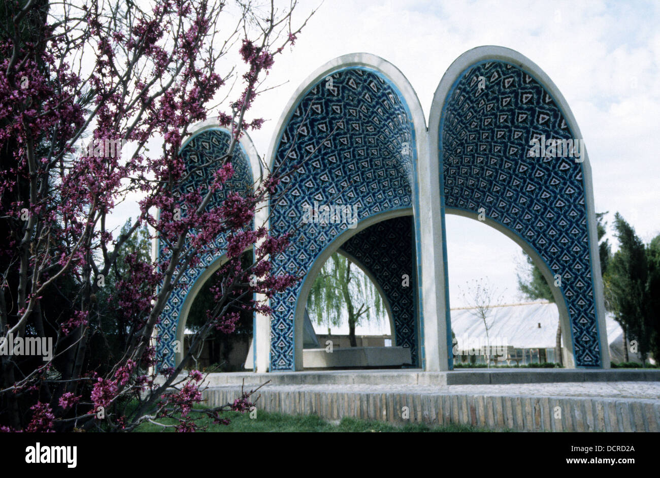 The Poets' Garden with tomb of 12th century poet Kamal al Molk in Neishapour Khorasan, Province, Iran Stock Photo