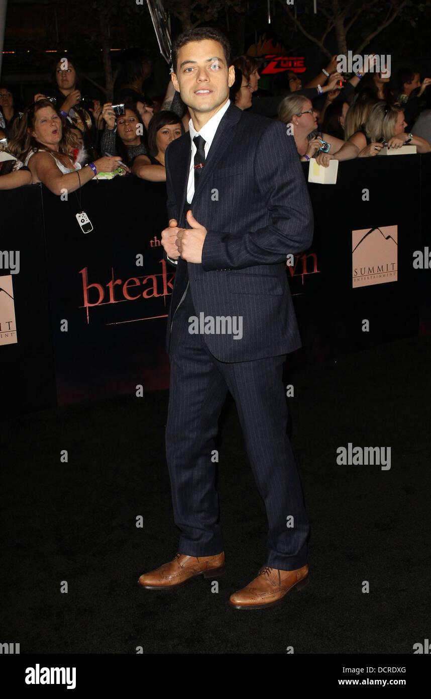Rami Malek The Twilight Saga: Breaking Dawn - Part 1 World Premiere Stock  Photo - Alamy