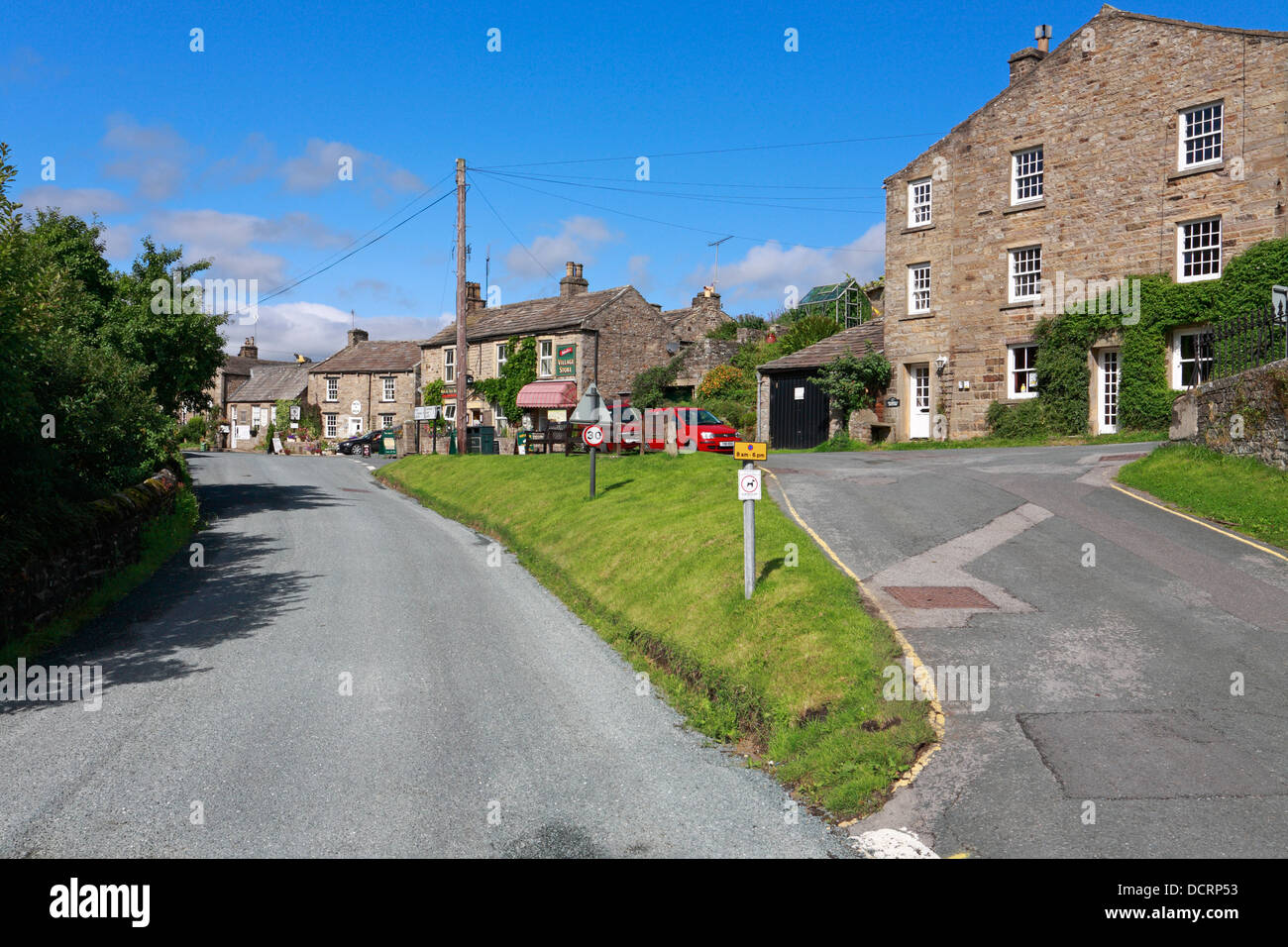 Muker in Swaledale, North Yorkshire, Yorkshire Dales National Park, England, UK. - Stock Image