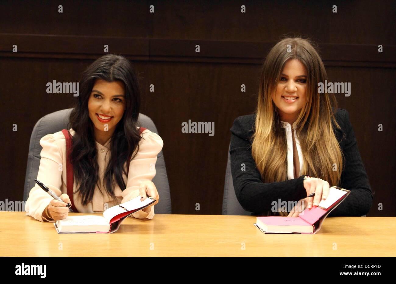 Khloe Kardashian And Kourtney Kardashian Sign Copies Of Their New