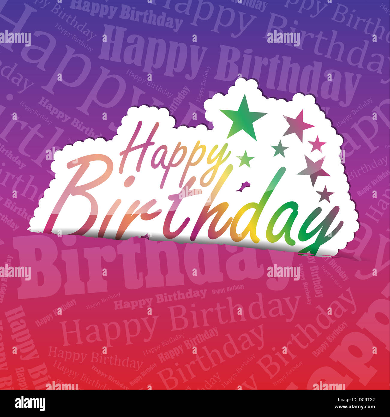 Happy birthday sticker on a typography background a lot of space for your