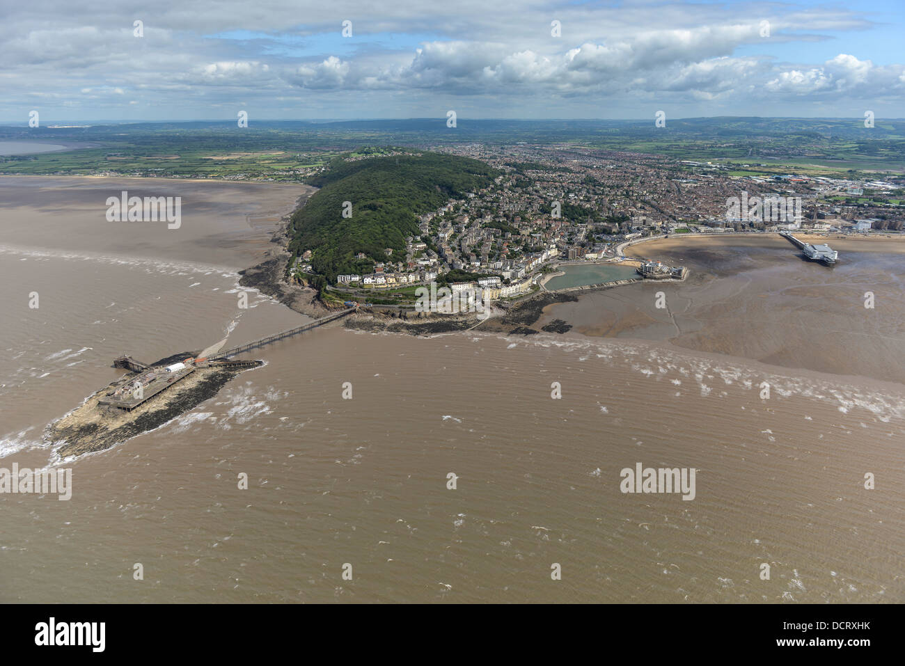 Aerial photograph of Weston-Super-Mare - Stock Image