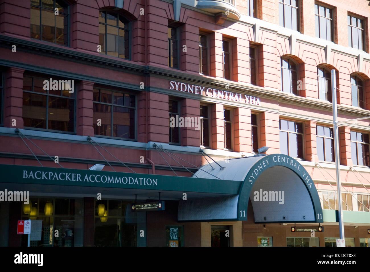 backpacker accomodation in sydney city centre - Stock Image