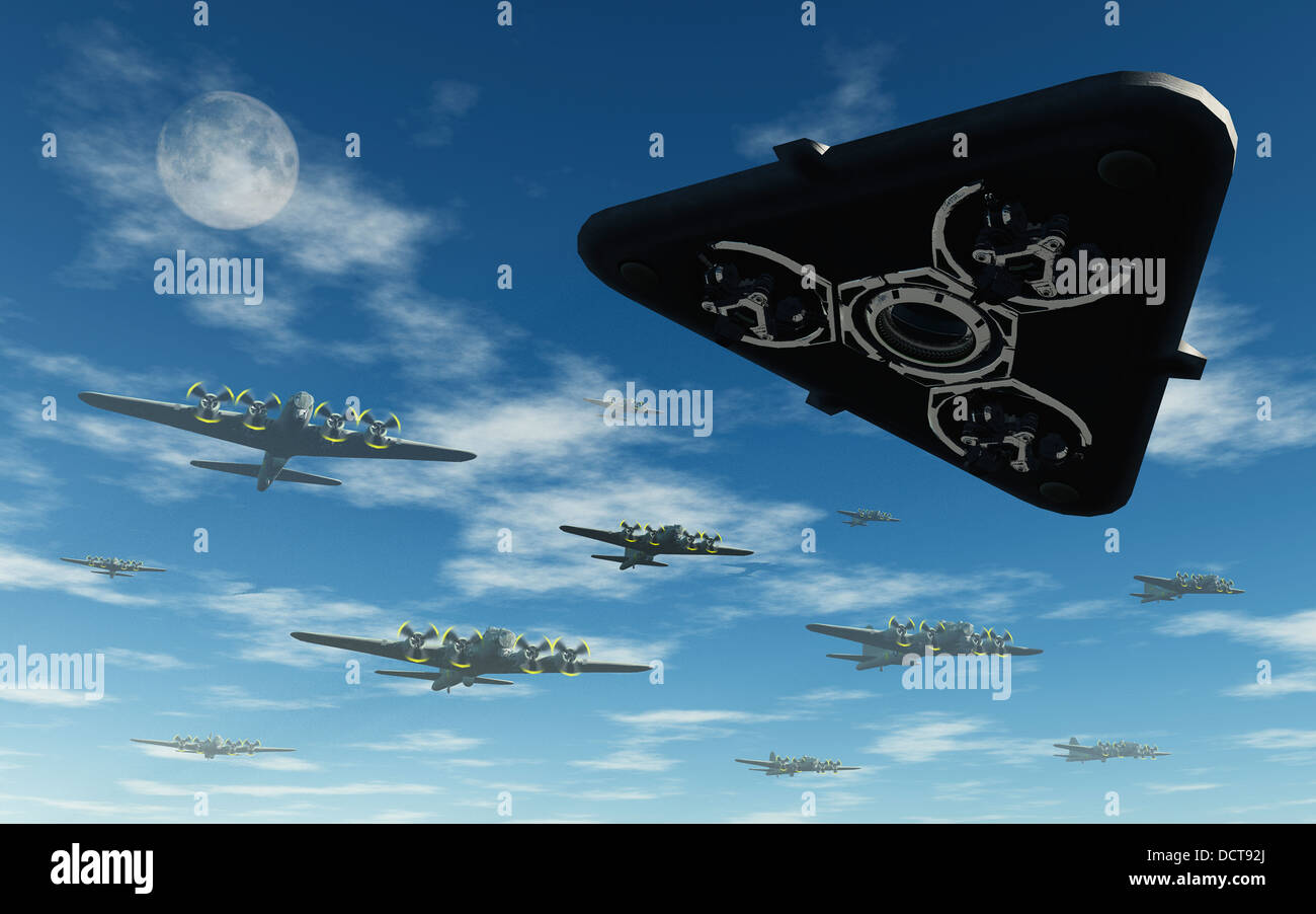The Flying Triangle Aircraft Stock Photos & The Flying Triangle