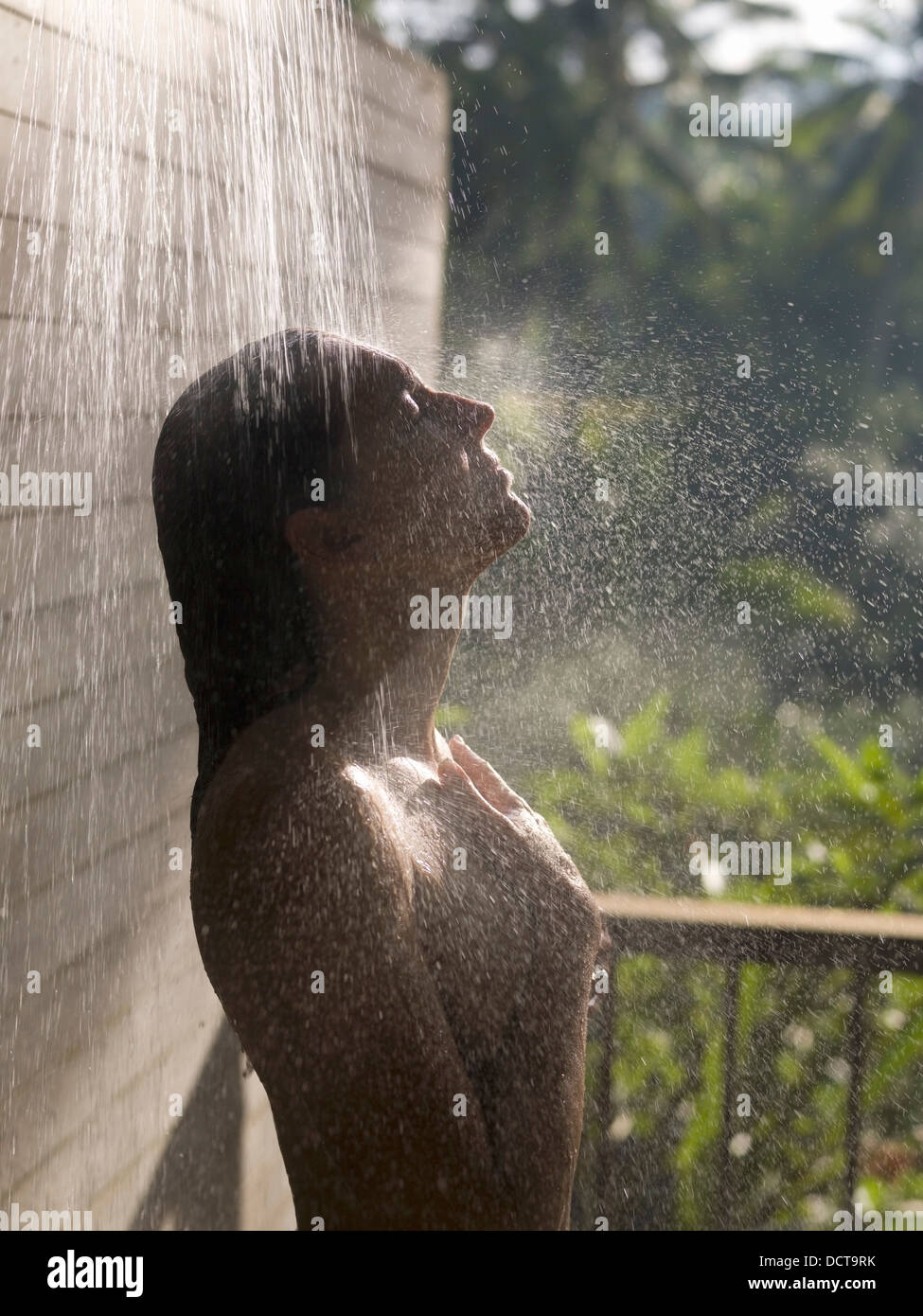 multiple photo outdoors shower of beach stock image showers outdoor