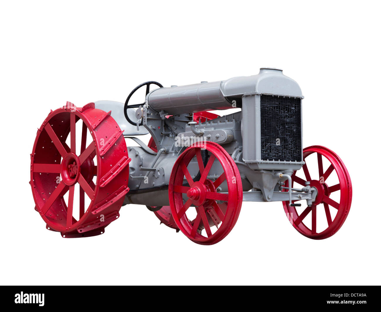 Collectible antique toy model tractor - Stock Image