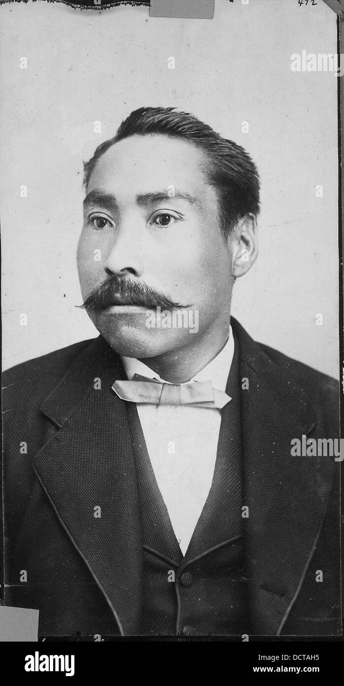 Chief Wallace of Fort Simpson B.C., also accompanied Mr. Duncan to Ottawa. - - 297510 - Stock Image