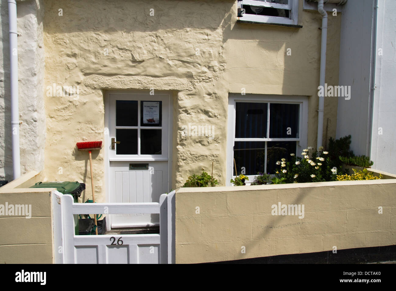 St Ives a seaside destination in Cornwall, England  UK A cottage in the Digey Stock Photo